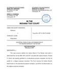 Hamilton County Assessor v. Charles E. Duke by Indiana Tax Court