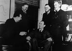 Albert Noonan with guests from Belgium